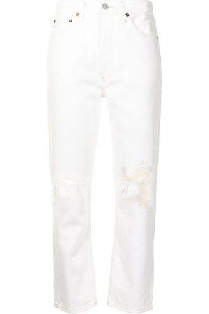 AGOLDE Senhora Retos - Riley cropped straight-leg jeans