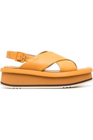 Paloma Barceló Senhora Sandálias - Crossover-strap platform sandals