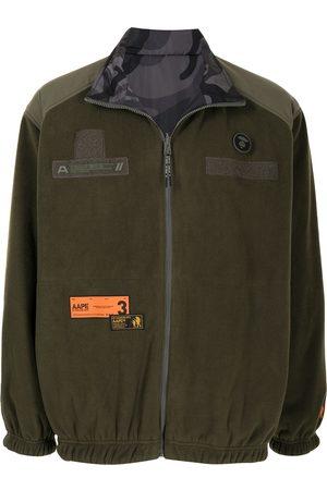 AAPE BY A BATHING APE Homem Polares - Shell-panelled fleece jacket