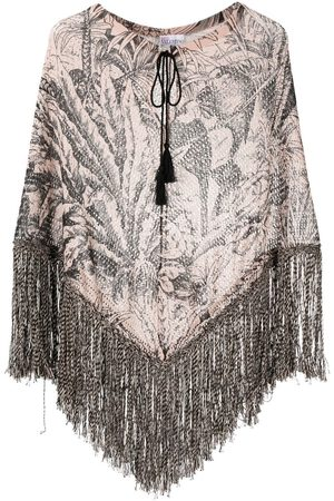 RED Valentino Jungle print knitted poncho