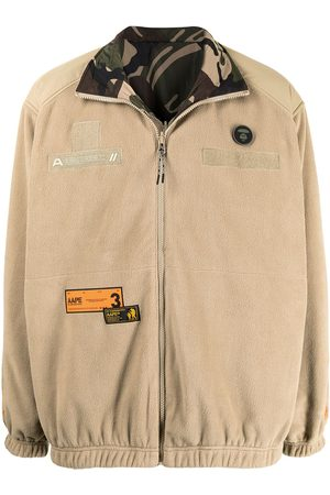 AAPE BY A BATHING APE Homem Camisolas - Reversible patch-panelled fleece