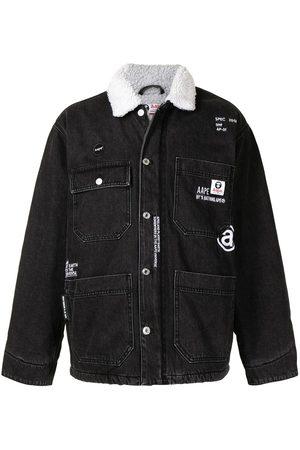 AAPE BY A BATHING APE Homem Casacos - Faux shearling-collar denim jacket