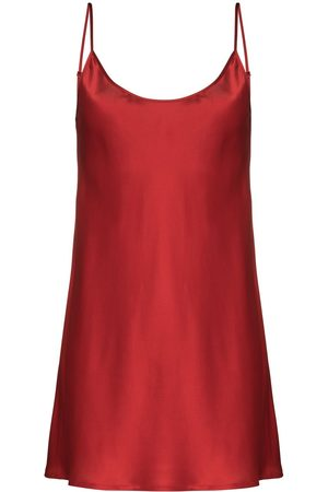 La Perla Senhora Slips & Saiotes - Scoop-neck silk slip nightdress