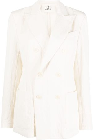 BARENA Senhora Blazers - Crinkled double-breasted blazer