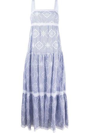 Twin-Set Senhora Vestidos Casual - Broderie anglaise maxi dress