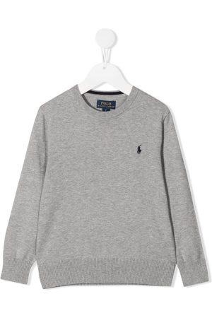 Ralph Lauren Menino Tops de Cavas - Logo-embroidered jumper