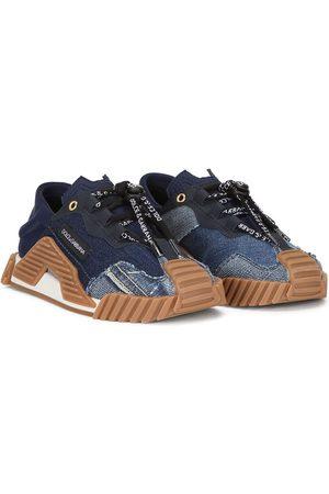 Dolce & Gabbana Denim-panelled sneakers