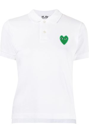 Comme des Garçons Heart-patch polo top