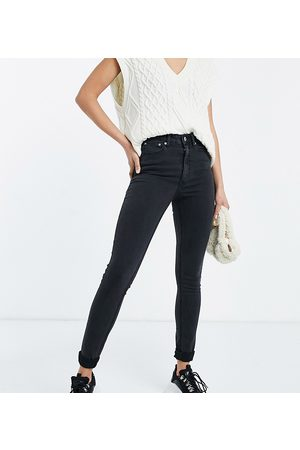 ASOS ASOS DESIGN Tall high rise ridley 'skinny' jeans in washed black