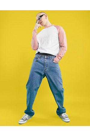 ASOS Homem Retos - Straight leg jeans in mid wash blue