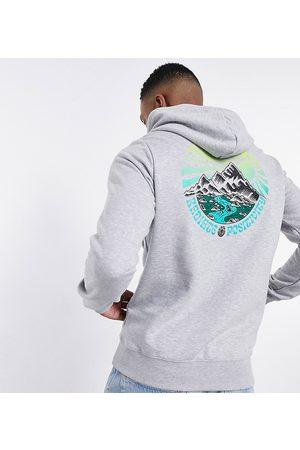 Element Balmore back print hoodie in grey Exclusive at ASOS