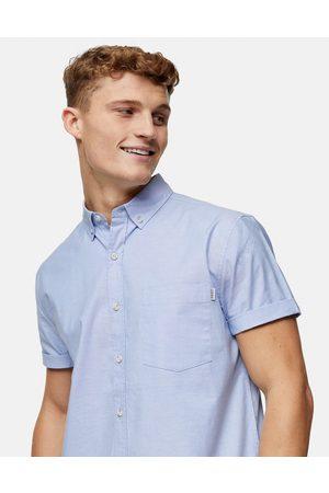 Topman Slim oxford shirt in light blue
