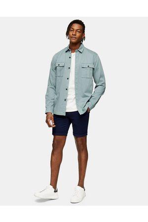 Topman Skinny chino shorts in navy-Blue