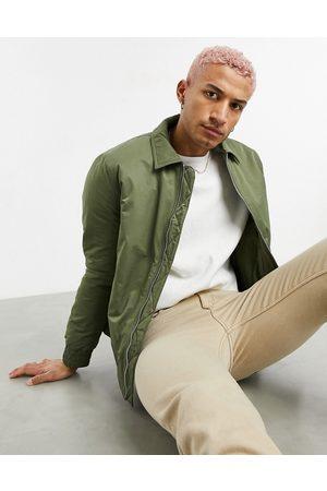 ASOS Homem Casacos de Inverno - Padded harrington jacket in khaki-Green