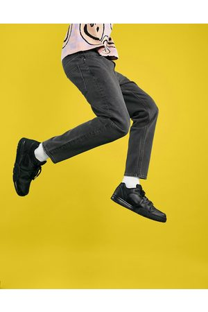 ASOS Homem Retos - Classic rigid jeans in vintage washed black