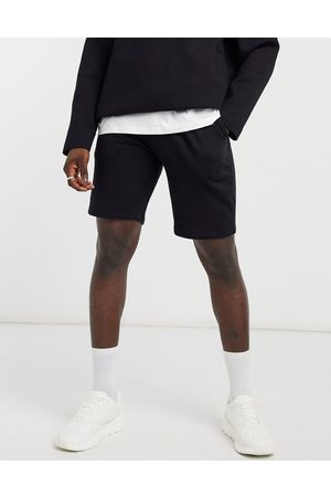 ASOS Pleated jersey shorts in black