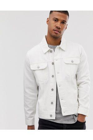 ASOS Oversized denim jacket in white