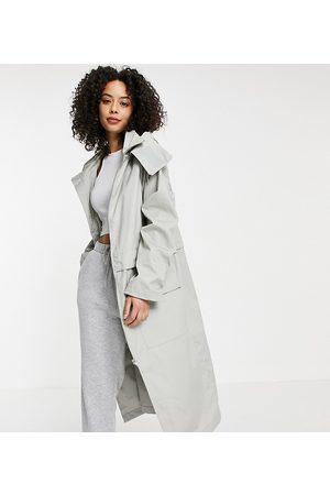 ASOS ASOS DESIGN Tall double layer parka coat in grey