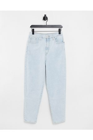 Levi's Levi's high waist tapered jeans in bleach wash-Blue