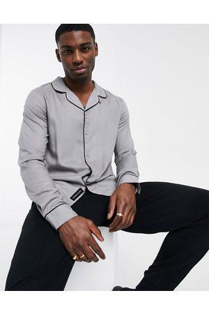 Native Youth Homem Manga comprida - Slim fit long sleeve shirt in grey