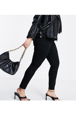 ASOS ASOS DESIGN Curve high rise ridley 'skinny' jeans in clean black