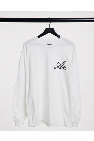 ASOS Homem Manga comprida - Long sleeve t-shirt in white with chest logo