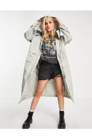 ASOS Double layer parka coat in grey