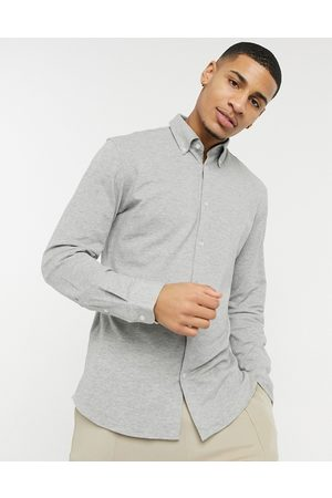Selected Jersey shirt in grey