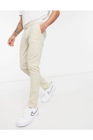 ASOS Homem Calças - Skinny smart trouser in stone