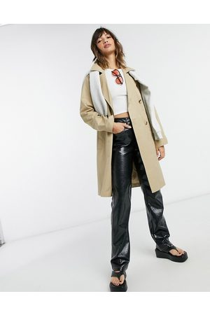 SELECTED Femme double breasted trench coat in beige-Neutral