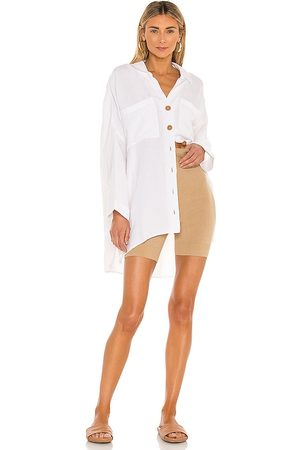 Show Me Your Mumu Johns Button Down Shirt in - White. Size L (also in S, XS, M).