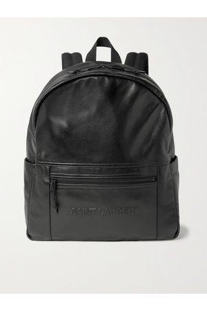 Saint Laurent Homem Bolsas & Carteiras - Logo-Embossed Leather Backpack