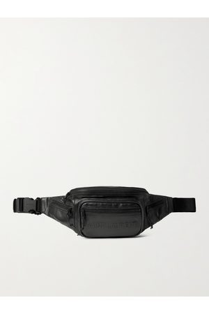 Saint Laurent Homem Cintos - Logo-Embossed Leather Belt Bag