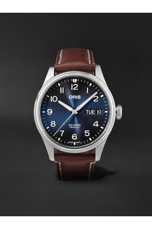 Oris Homem Relógios - Big Crown ProPilot Big Day Date Automatic 44mm Stainless Steel and Leather Watch, Ref. No. 01 752 7760 4065-07 5 22 07LC
