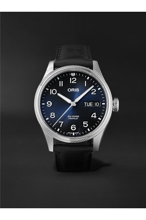 Oris Homem Relógios - Big Crown ProPilot Big Day Date Automatic 44mm Stainless Steel and Leather Watch, Ref. No. 01 752 7760 4065-07 5 22 08LC