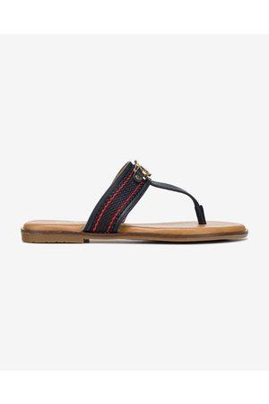 TOM TAILOR Flip-flops Blue Brown