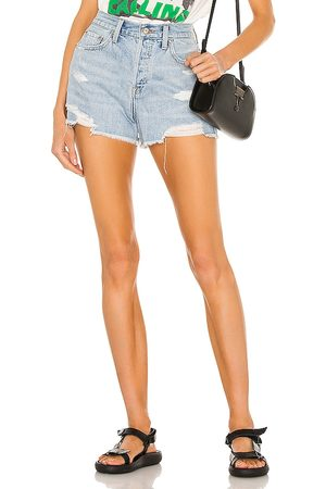 Pistola Nova High Rise Relaxed Cut Off in - Blue. Size 24 (also in 26, 25, 27, 28, 29, 30, 31).