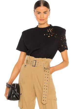 SER.O.YA Caroline T Shirt in - Black. Size L (also in S, XS, M).