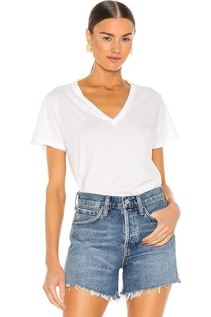 AGOLDE Thea V Neck T Shirt in - . Size L (also in XS, S, M, XL).