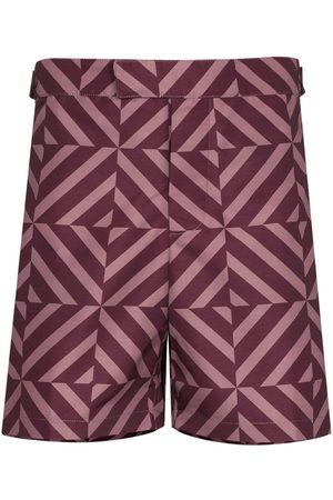 Frescobol Carioca Angra geometric-print swim shorts