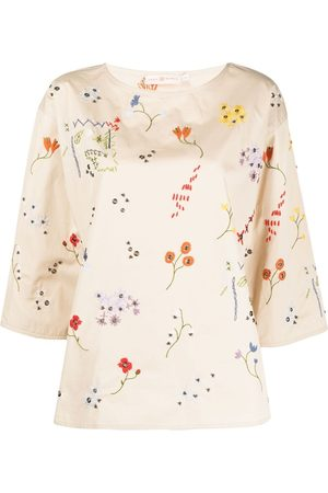 Tory Burch Embroidered -floral blouse