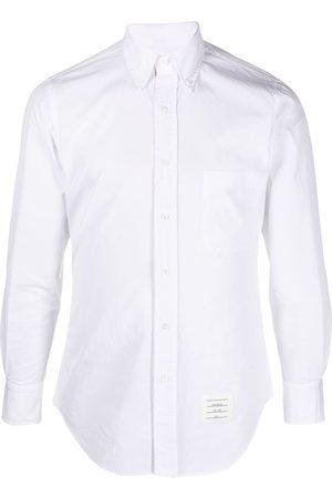 Thom Browne Button-down RWB detail shirt