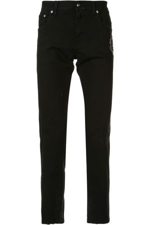 Dolce & Gabbana Logo embroidered skinny jeans
