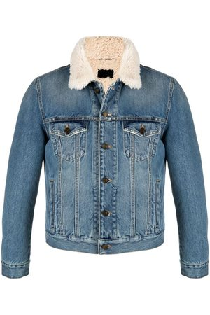 Saint Laurent Shearling lined denim jacket