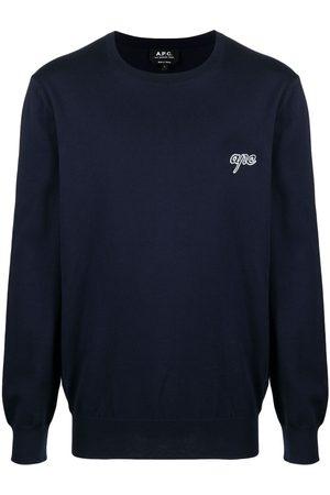 A.P.C. Logo crew-neck jumper