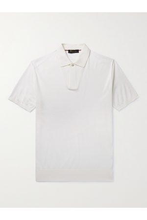 Loro Piana Homem Manga curta - Slim-Fit Cotton and Silk-Blend Polo Shirt