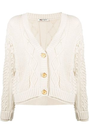 PORTS 1961 Button-up cable-knit cardigan