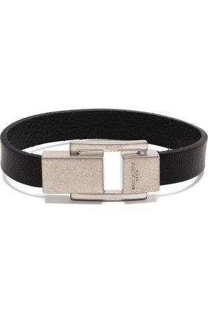 Saint Laurent Carré logo-engraved clasp bracelet