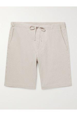 Loro Piana Striped Cotton-Blend Seersucker Drawstring Shorts