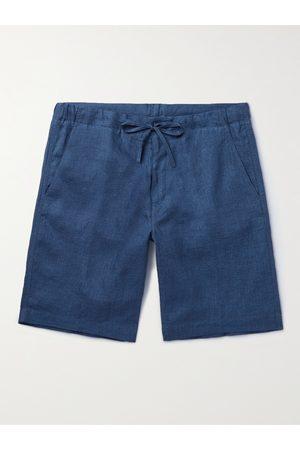 Loro Piana Homem Bermudas - Slim-Fit Linen Drawstring Bermuda Shorts